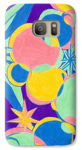 Galaxy Case featuring the drawing Planets And Stars by Kim Sy Ok