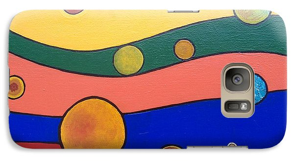 Galaxy Case featuring the painting Planets by Steve  Hester