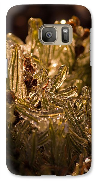 Galaxy Case featuring the photograph Plant Covered In Ice by Dave Garner