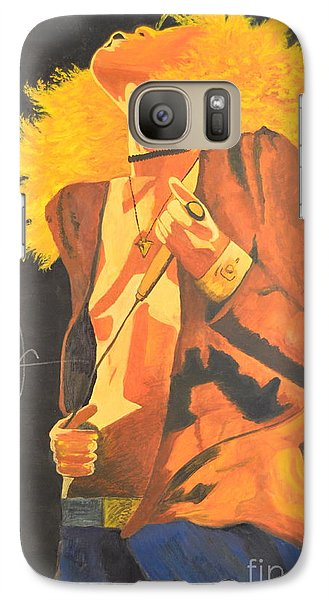 Galaxy Case featuring the painting Plant II by Stuart Engel