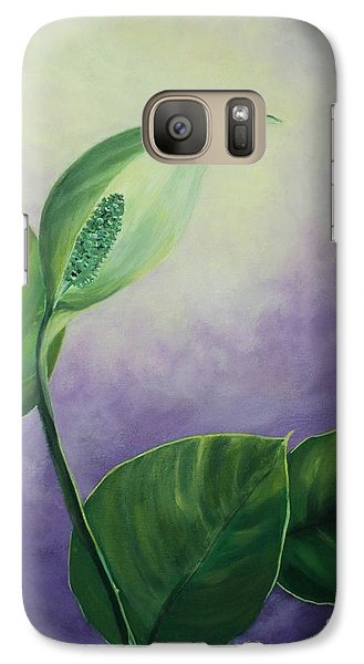 Galaxy Case featuring the painting Plant In The Light by Jesslyn Fraser