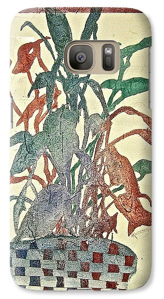 Galaxy Case featuring the painting Planted Silhouettes by Carolyn Rosenberger