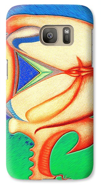 Galaxy Case featuring the drawing Plastic Sushi by Carl Hunter