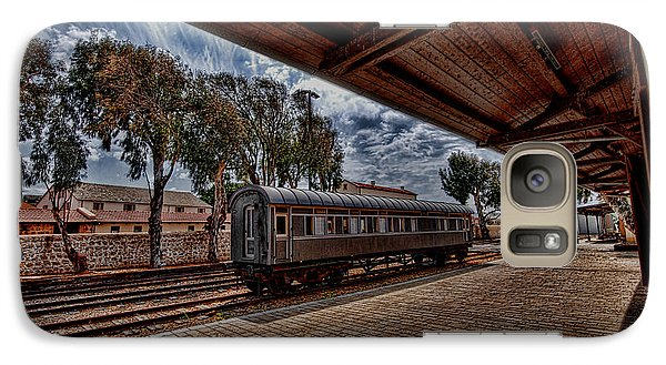 Galaxy Case featuring the photograph platform view of the first railway station of Tel Aviv by Ron Shoshani