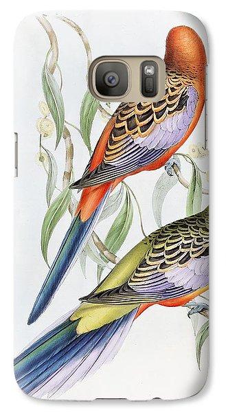Parakeet Galaxy S7 Case - Platycercus Adelaidae From The Birds Of Australia by John Gould
