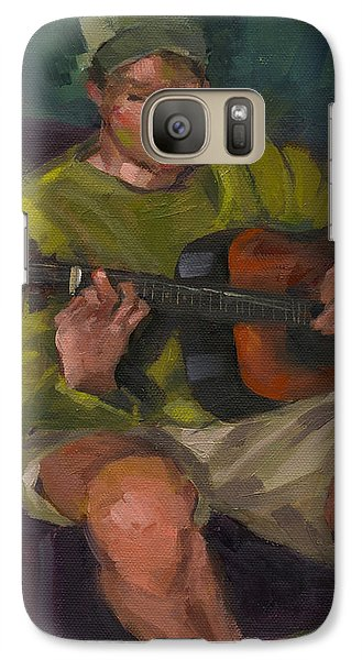 Galaxy Case featuring the painting Play A Song For Me by Nancy  Parsons