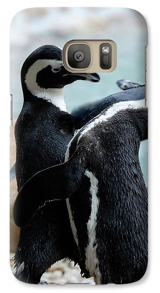 Galaxy Case featuring the photograph play Nice by Kathy Gibbons