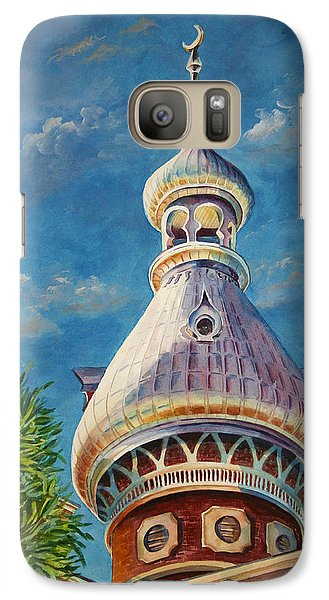 Galaxy Case featuring the painting Play Of Light - University Of Tampa by Roxanne Tobaison