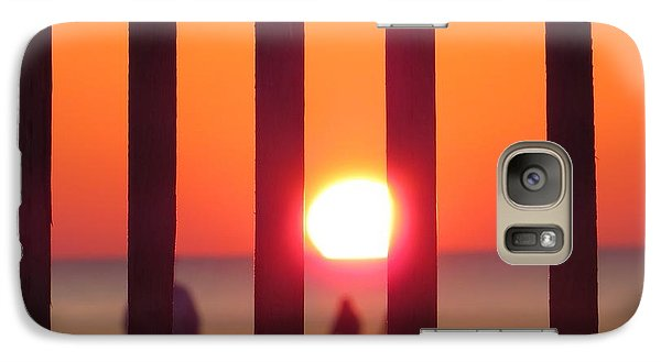 Galaxy Case featuring the photograph Play Through The Fence by Nikki McInnes