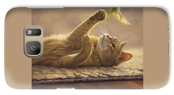 Cat Galaxy S7 Case - Playtime by Lucie Bilodeau