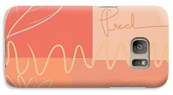 Playful Peach Galaxy S7 Case by Lourry Legarde