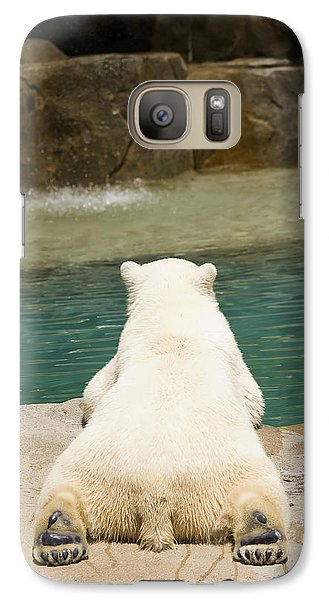 Playful Polar Bear Galaxy Case by Adam Romanowicz