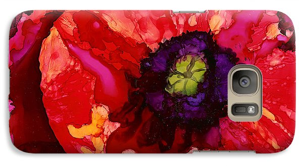Galaxy Case featuring the painting Playful Poppy by Karen Mattson