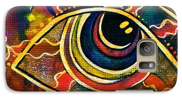 Galaxy Case featuring the painting Playful Spirit Eye by Deborha Kerr