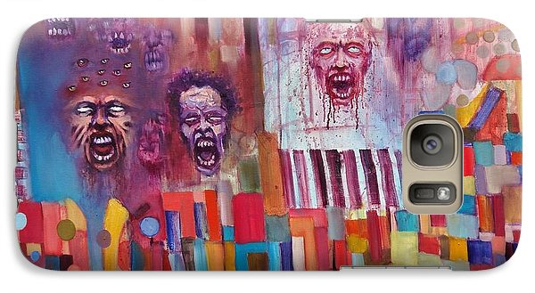 Galaxy Case featuring the painting Playground Of The Undead by Jason Williamson