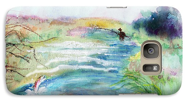 Galaxy Case featuring the painting Playin' Hooky by C Sitton