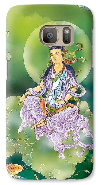 Galaxy Case featuring the photograph Playing Avalokitesvara   by Lanjee Chee