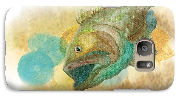 Galaxy Case featuring the painting Playing Hard To Get by Anne Beverley-Stamps