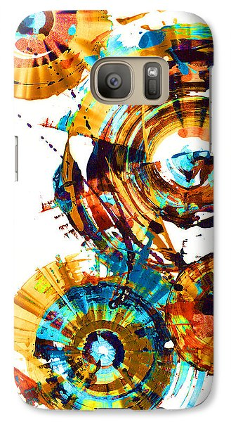 Galaxy Case featuring the painting Playing In The Wind 1000.042312 - Popart-1 by Kris Haas