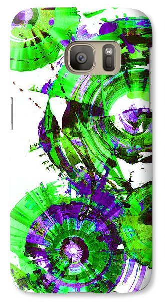 Galaxy Case featuring the painting Playing In The Wind 1000.042312 - Popart-2 by Kris Haas