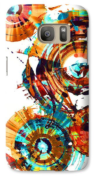 Galaxy Case featuring the painting Playing In The Wind 1000.042312 - Popart-3 by Kris Haas