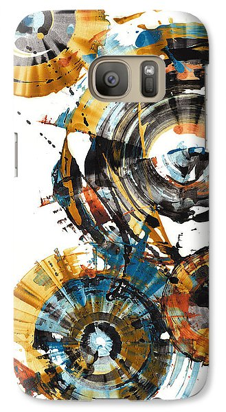Galaxy Case featuring the painting Playing In The Wind 1000.042312 by Kris Haas