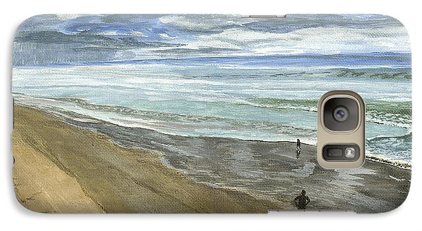 Galaxy Case featuring the painting Playing On The Oregon Coast by Ian Donley