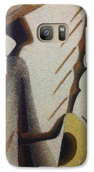 Galaxy Case featuring the photograph Playing The People by Fania Simon