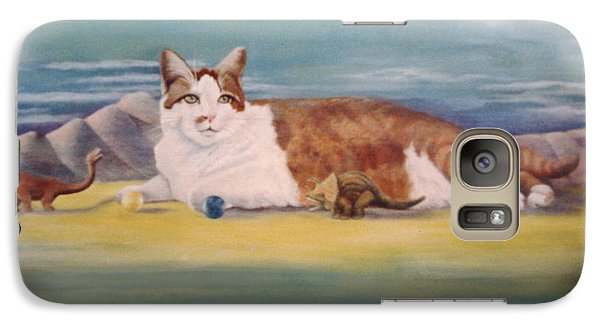 Galaxy Case featuring the painting Playland by Mary Ann  Leitch