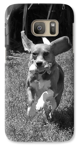 Galaxy Case featuring the photograph Playtime Bw by Tannis  Baldwin