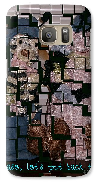 Galaxy Case featuring the photograph Please Lets Put Back The Pieces by Joyce Gebauer