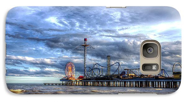 Galaxy Case featuring the photograph Pleasure Pier Galveston by Shawn Everhart