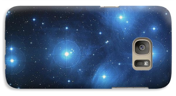 Galaxy Case featuring the photograph Pleiades - Star System by Absinthe Art By Michelle LeAnn Scott