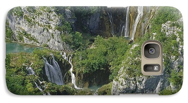 Galaxy Case featuring the photograph Plitvice Lakes In Croatia by Rudi Prott