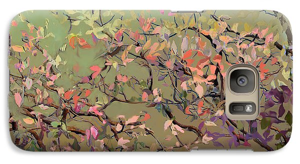 Galaxy Case featuring the digital art Plum Blossoms by Ursula Freer