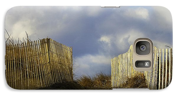 Galaxy Case featuring the photograph Plum Island Fence by Betty Denise