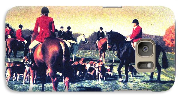 Galaxy Case featuring the photograph Plum Run Hunt Opening Day by Angela Davies