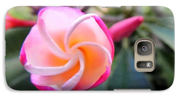 Galaxy Case featuring the photograph Plumeria Curve by Kristine Merc