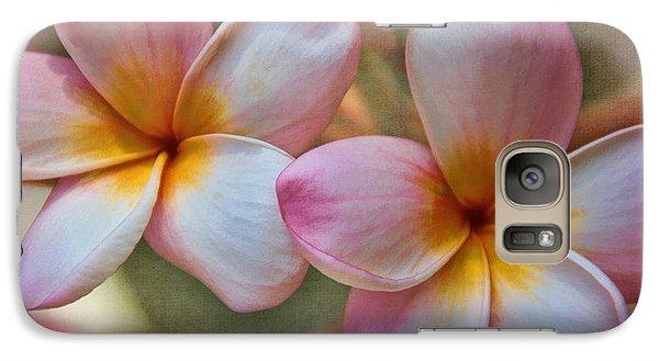 Plumeria Pair Galaxy S7 Case by Peggy Hughes