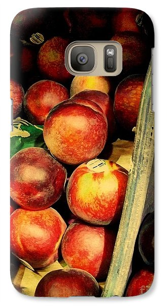 Galaxy Case featuring the photograph Plums And Nectarines by Miriam Danar