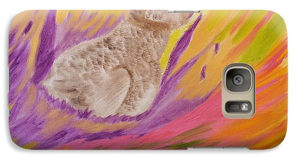 Galaxy Case featuring the painting Plunge Into Your Painting by Meryl Goudey