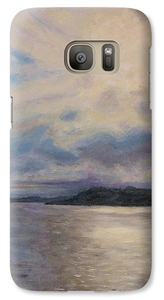 Galaxy Case featuring the painting Plymouth Uk Harbor by Joe Bergholm