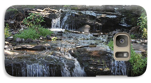 Galaxy Case featuring the photograph Poconos Waterfall Stream by John Telfer