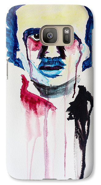 Galaxy Case featuring the painting Poe by Joshua Minso