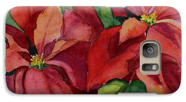Galaxy Case featuring the painting Poinsettia by Vikki Bouffard
