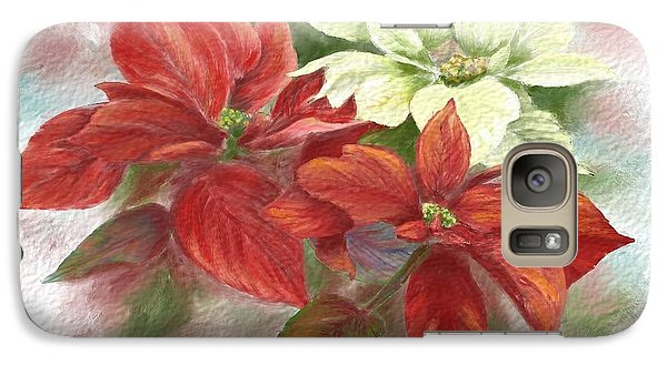 Galaxy Case featuring the painting Poinsettias For The Winter Holidays by Judy Filarecki