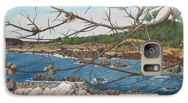 Galaxy Case featuring the painting Point Lobos by Hilda and Jose Garrancho