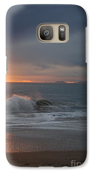 Galaxy Case featuring the photograph Point Mugu 1-9-10 Sun Setting With Surf by Ian Donley