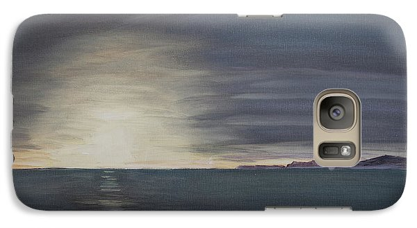 Galaxy Case featuring the painting Point Mugu Sunset by Ian Donley