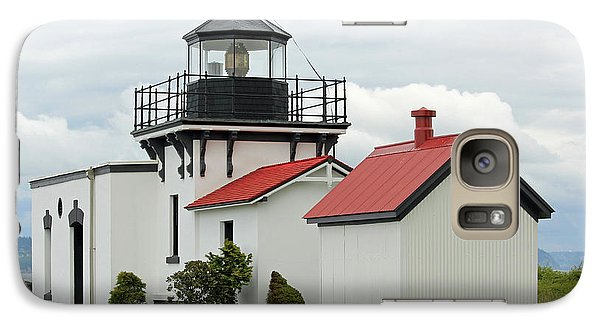 Galaxy Case featuring the photograph Point No Point Lighthouse by E Faithe Lester